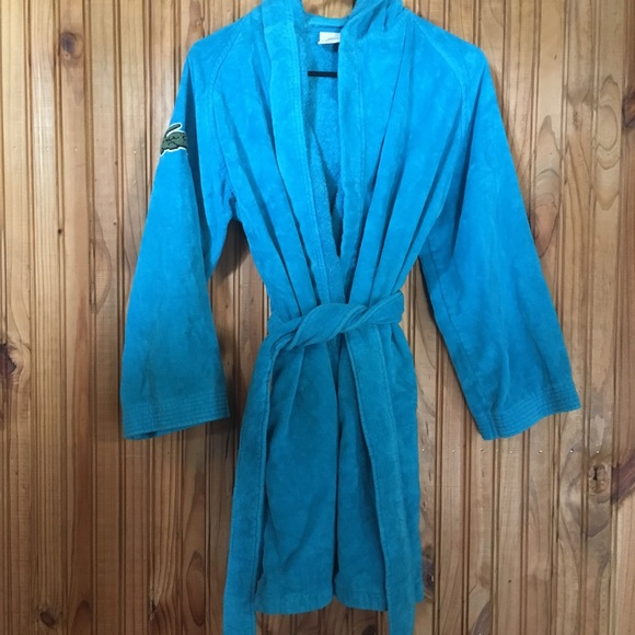 7a413eee18 Lacoste Other - Lacoste bath robe   teal   aqua
